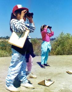 binoculars clipboards