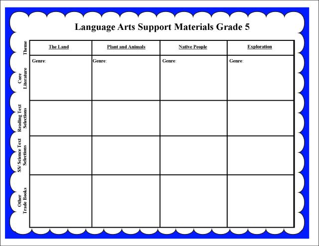 LA Support Materials Grade 5  a