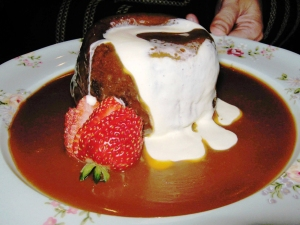 Sticky Date Pudding:  Photo by Sharon Apted via Public Domain Pictures.net.
